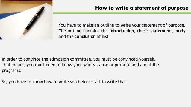 How To Write A Good Statement Of Purpose Sample