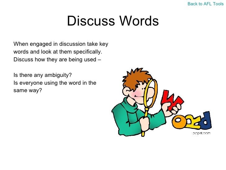 Tools 47 Discuss Words