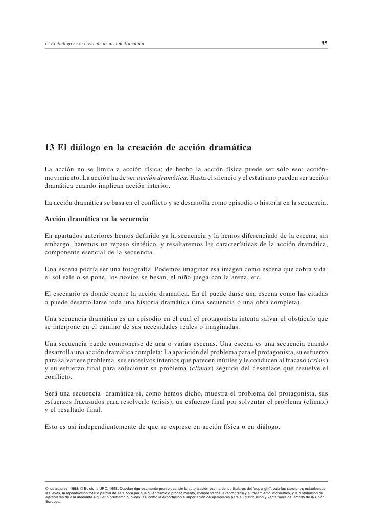 13 El diálogo en la creación de acción dramática                                                                          ...