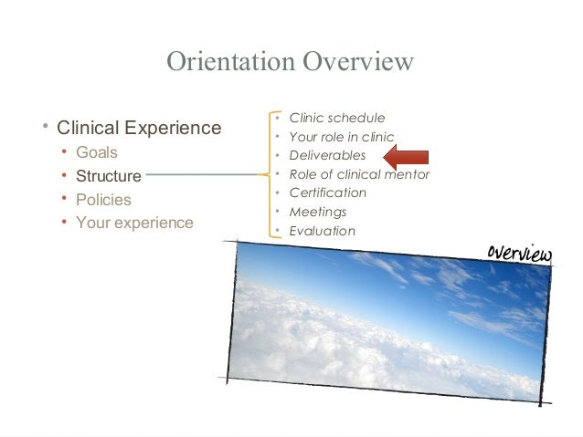 orientation a learning experience Teaching-learning process in the classroom and enables them to construct meaning from  reflective orientation to teaching is seen by corcoran (2003) as an.
