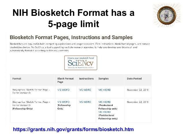 Nih Biosketch Personal Statement Instructions