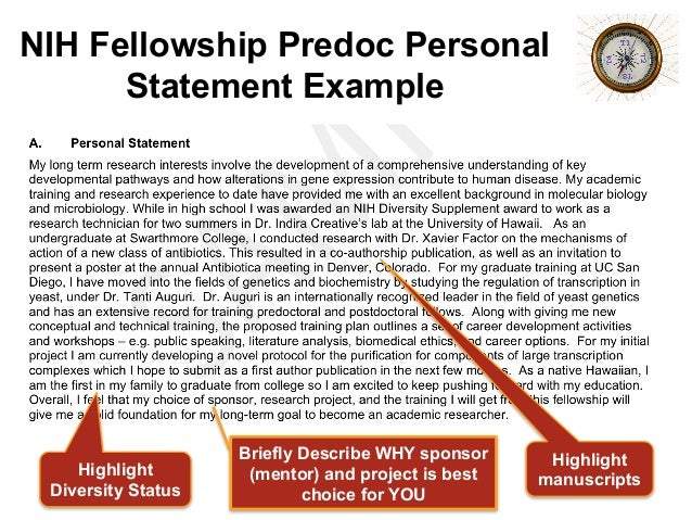 nrsa personal statement