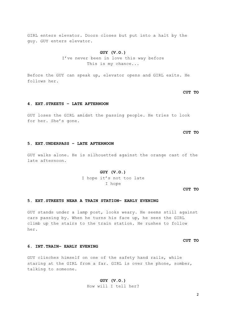 sample script format selo l ink co
