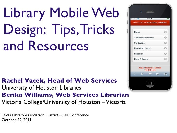 Library Mobile Web Design Tips Tricks And Resources