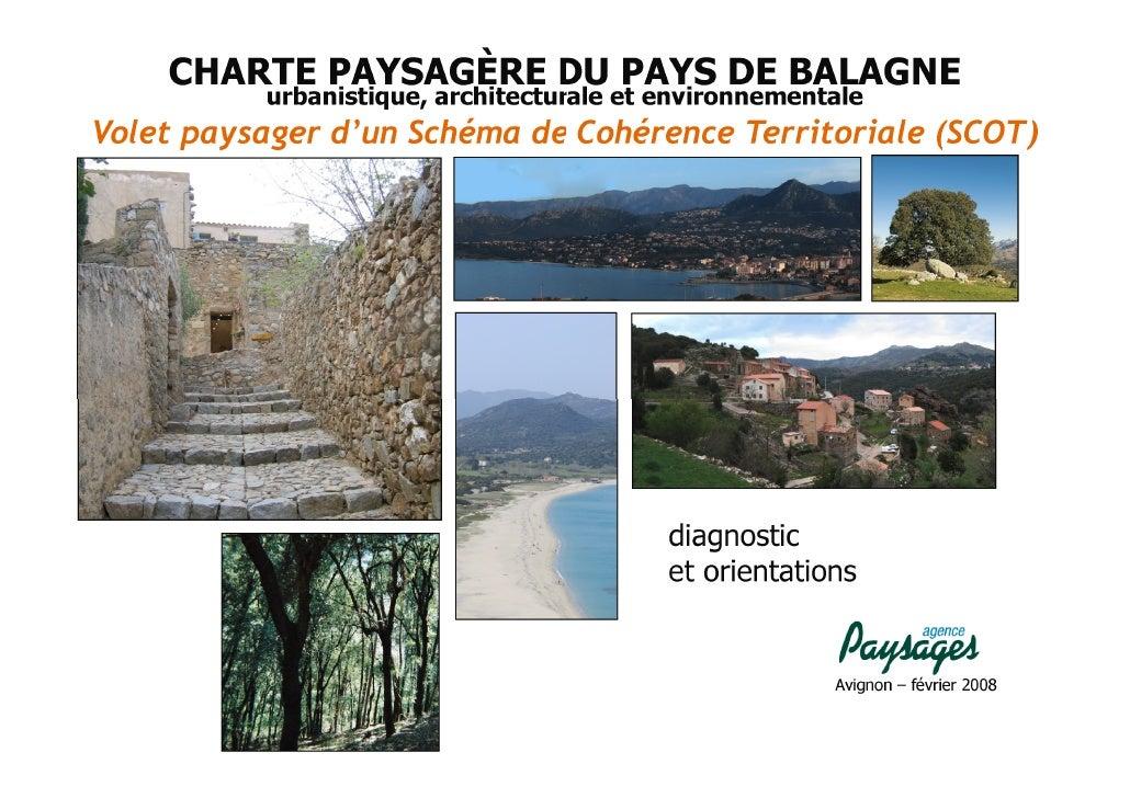 Charte Paysagère, Architecturale et Environnementale de Balagne