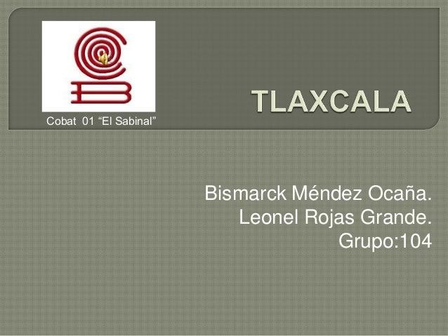 "Cobat 01 ""El Sabinal""  Bismarck Méndez Ocaña. Leonel Rojas Grande. Grupo:104"