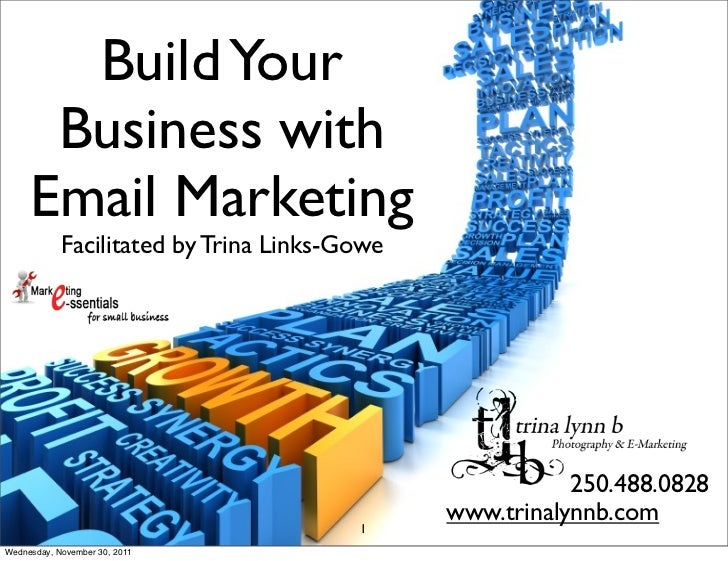 Build Your      Business with     Email Marketing            Facilitated by Trina Links-Gowe                              ...