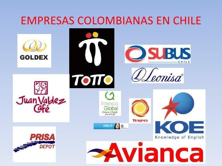 Tlc colombia chile for Empresas de desatascos en alicante