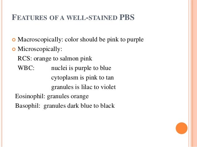 MICROSCOPIC EXAM  10× (low fold): overall smear quality, rouleaux, agglutination or parasites  100× (oil Len): WBC Diff,...