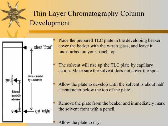 column and thin layer chromatography About chromatography column chromatography the solid phase solvent  systems how to run  how to purify by preparative thin layer  chromatography  preparative thin layer chromatography (prep tlc) is a  useful technique for the.