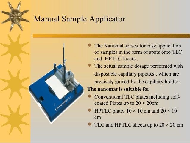 Thin Layer Chromatography and HighPerformance Thin Layer chromatograp…