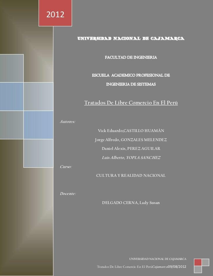 2012             UNIVERSIDAD NACIONAL DE CAJAMARCA                         FACULTAD DE INGENIERIA                  ESCUELA...
