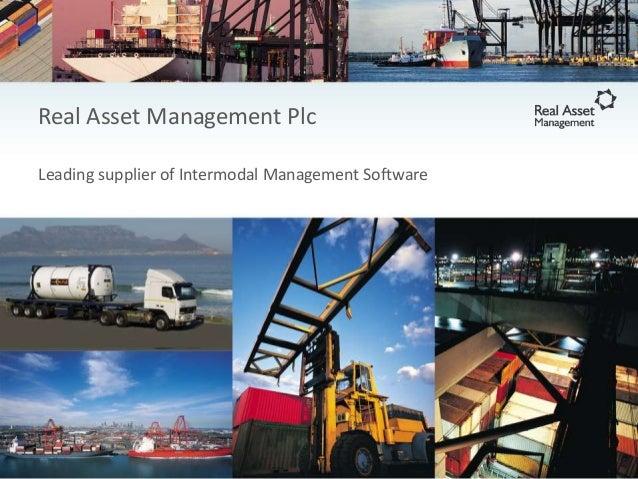 Real Asset Management Plc Leading supplier of Intermodal Management Software