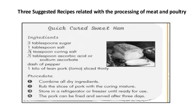 TLE 8 Methods of Processing Meat and Poultry