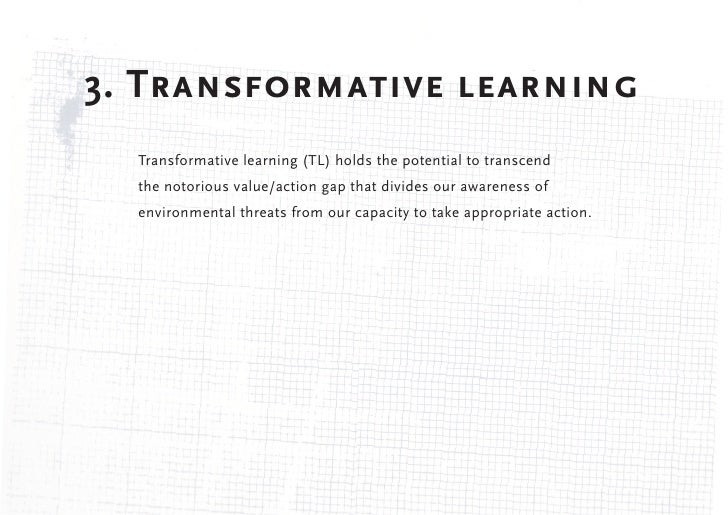 Transformative Learning - HistoryJack Mezirow first introduced the concept of transformative learning in a 1978 papertitle...