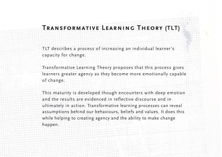Ten Phases of Transformative LearningJack Mezirow's Ten Phases of Transformational Learning (1978) was basedon extensive r...