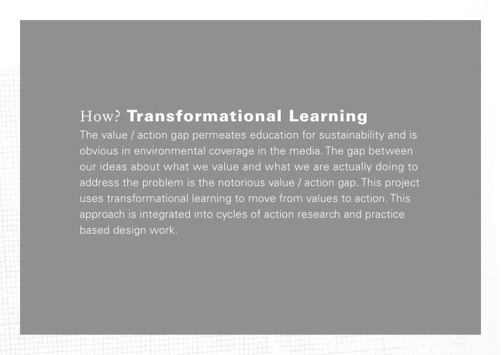 The Teach-in attempted to createconditions for transformational3rd order learning by creating atransformative, participato...