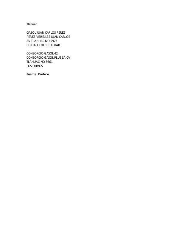 Tláhuac GASOL JUAN CARLOS PEREZ PEREZ MERELLES JUAN CARLOS AV TLAHUAC NO 5927 CELOALLIOTLI CJTO HAB CONSORCIO GASOL 42 CON...