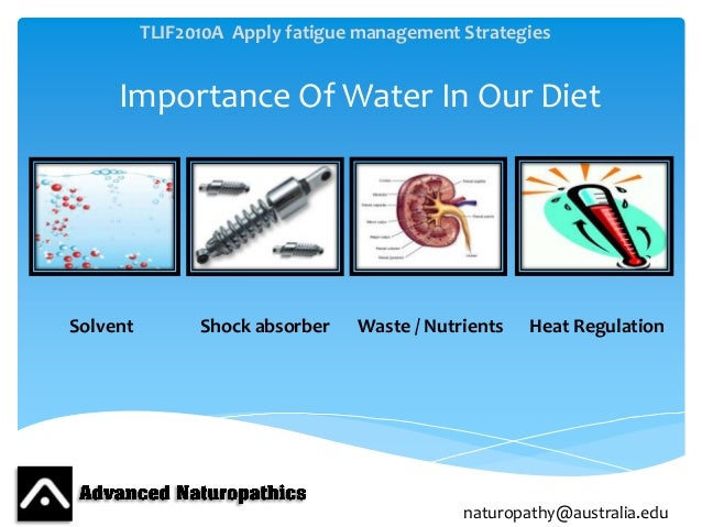 the importance of water in our lives Importance of water   if the world's entire water supply were only 100 liters, our usable supply of fresh water would be only about 0003 liters,.