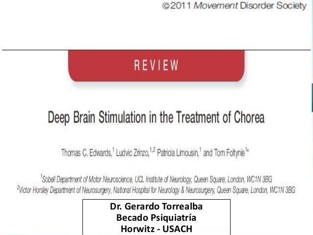 Dr. Gerardo Torrealba  Becado Psiquiatría  Horwitz - USACH