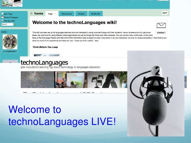 Welcome to technoLanguages LIVE!<br />
