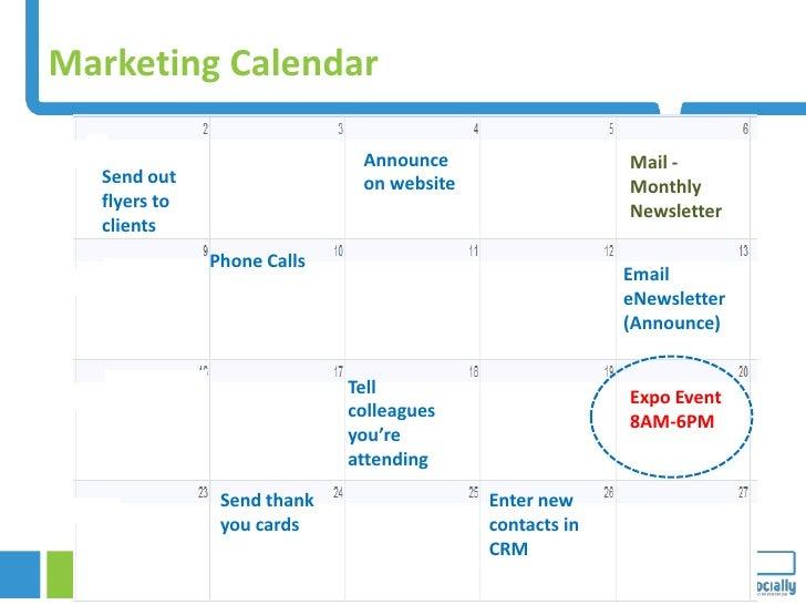 Marketing Calendar                                                       Announce                                    Mail ...