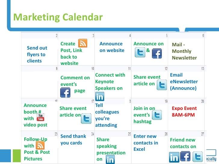 Marketing Calendar                  Create                           Announce                 Announce on                M...