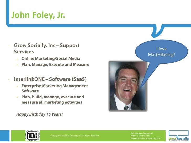 John Foley, Jr.                                                                                              I love      ...