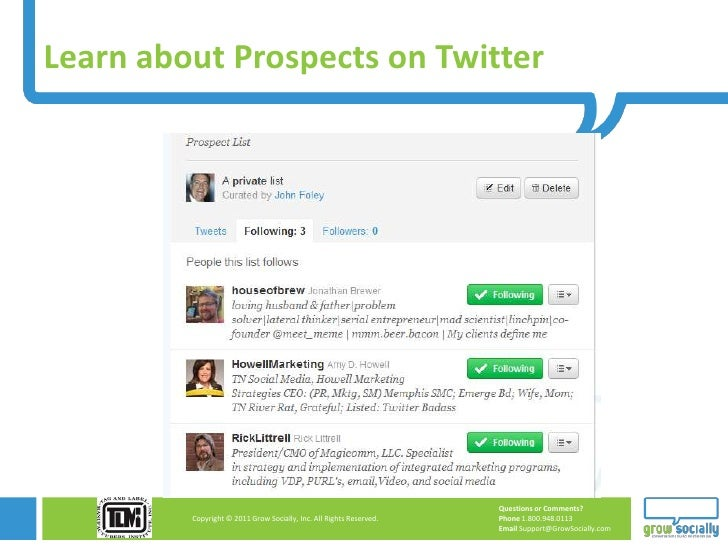 Learn about Prospects on Twitter                                                                     Questions or Comments...