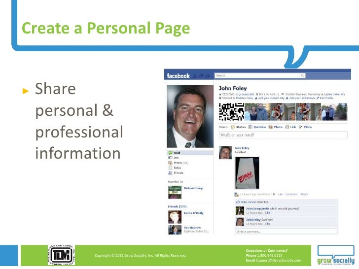 Create a Personal Page►   Share    personal &    professional    information                                              ...