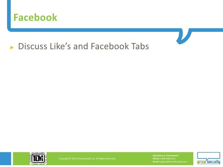 Facebook►   Discuss Like's and Facebook Tabs                                                                         Quest...