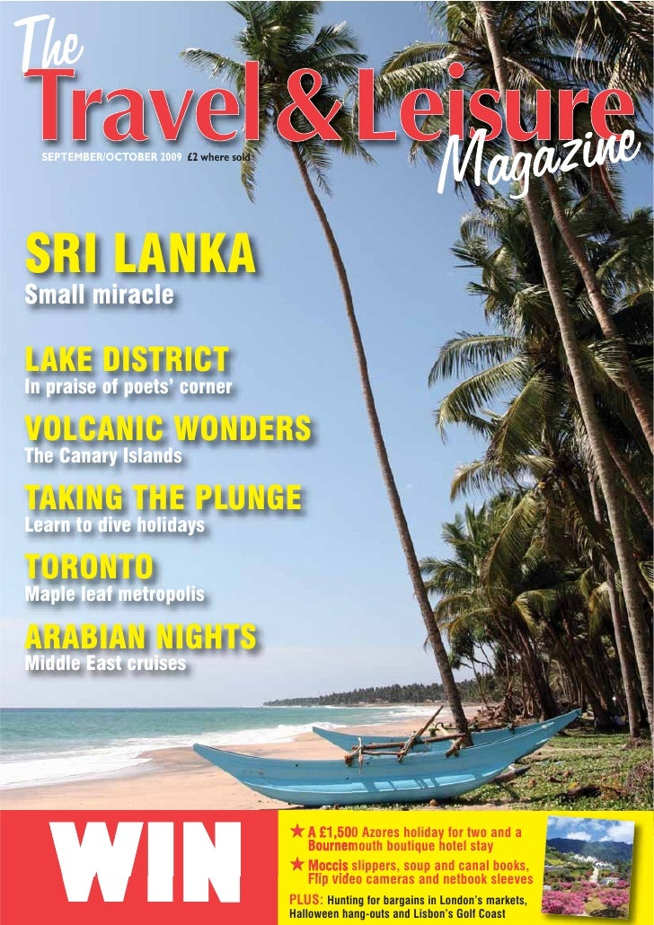 SEPTEMBER/OCTOBER 2009 £2 where sold     SRI LANKA Small miracle  LAKE DISTRICT In praise of poets' corner  VOLCANIC WONDE...