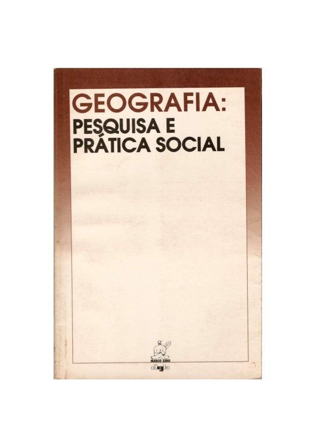 Geografia: Pesquisa e Prática Social