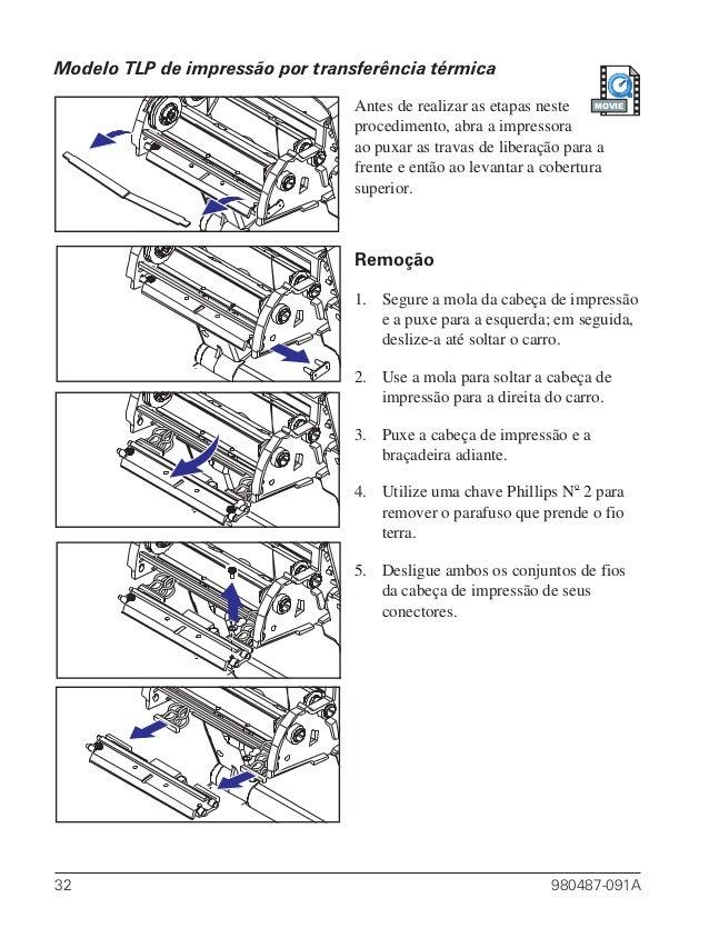 Manual Para Usuário da TLP2844 Zebra Technologies