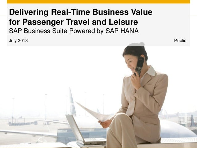 July 2013 Delivering Real-Time Business Value for Passenger Travel and Leisure SAP Business Suite Powered by SAP HANA Publ...