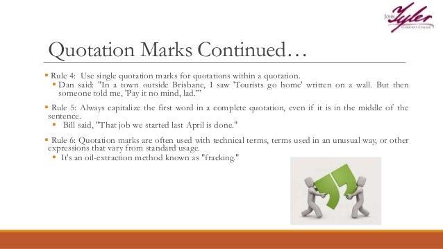 No Is A Complete Sentence Quote: Punctuation Presentation JTCC