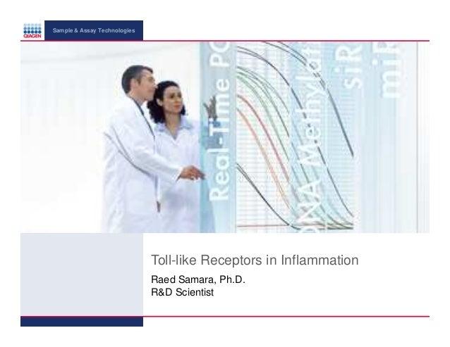 Sample & Assay Technologies  Toll-like Receptors in Inflammation Raed Samara, Ph.D. R&D Scientist