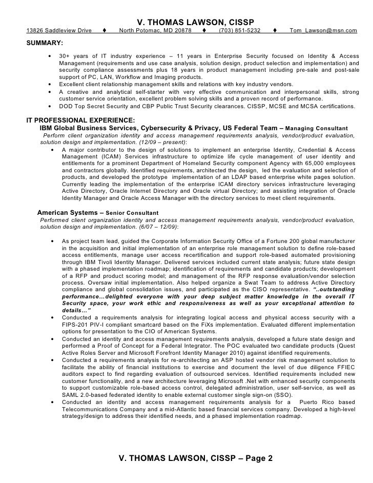 tl resume aug11 - Sample Access Management Resume