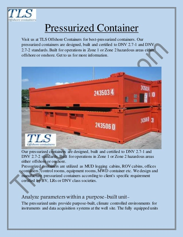 Pressurized Container Tls Containers