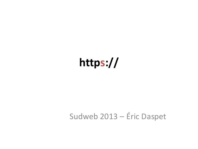 https://Sudweb 2013 – Éric Daspet