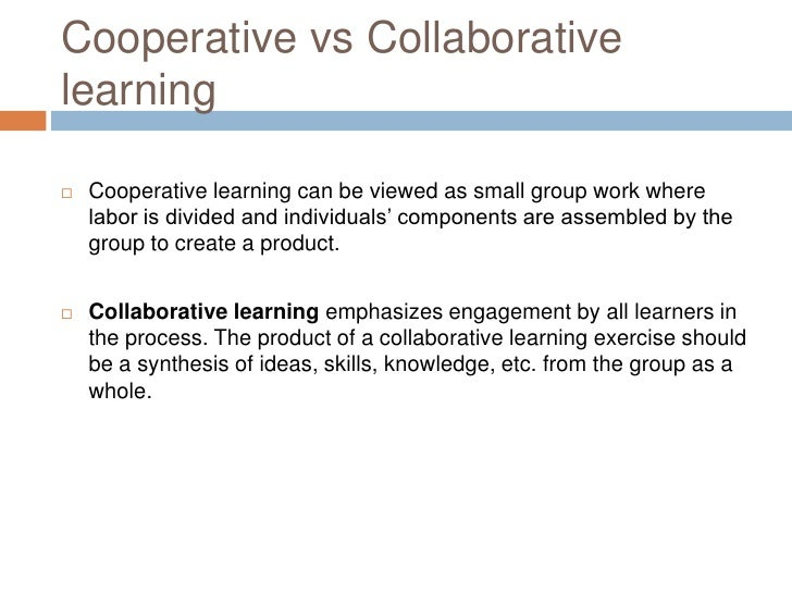 collaborative learning critical thinking Issues in educational research vol 15(1), 2005: olivares - collaborative critical thinking: conceptualizing and defining a new construct from known constructs.