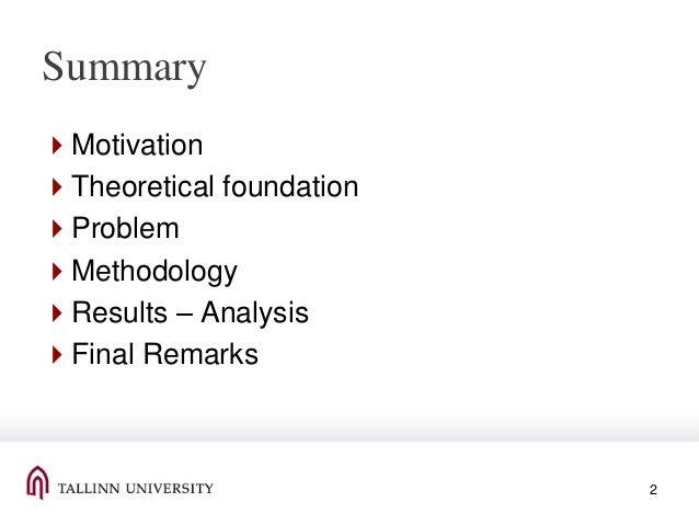 presentation at QQML 2013 Slide 2