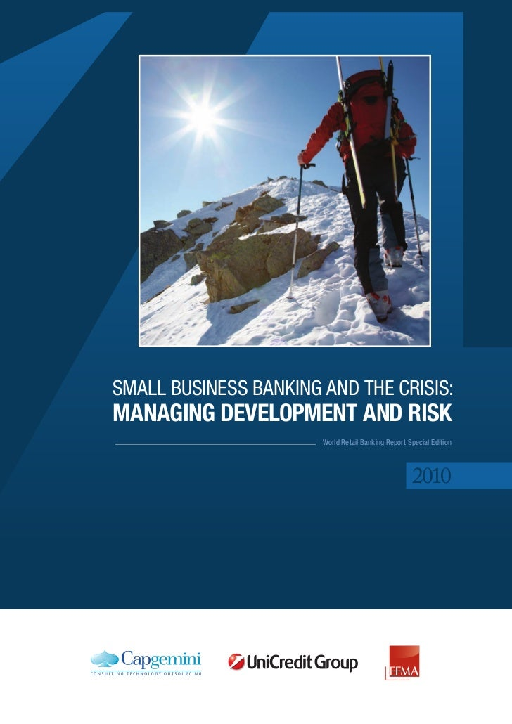 Small BuSinESS Banking and thE CRiSiS:Managing developMent and risk                       World Retail Banking Report Spec...