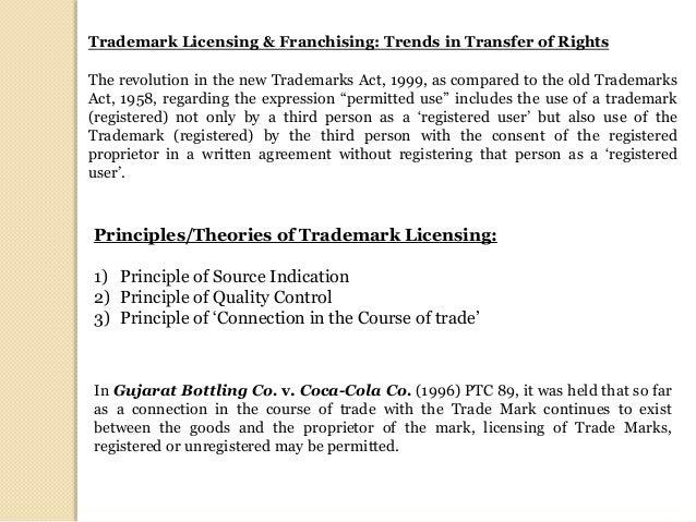 Trademark Licensing In India