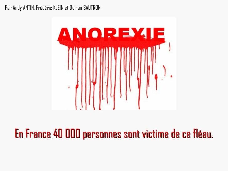 En France 40 000 personnes sont victime de ce fléau.   Par Andy ANTIN, Frédéric KLEIN et Dorian SAUTRON