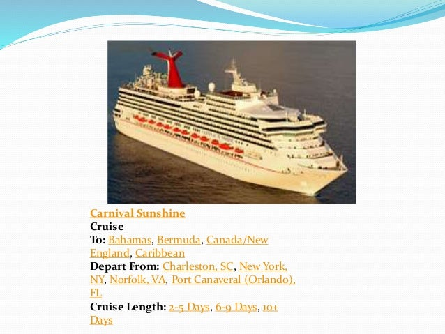 Principles Of Tourism Cruise Lines - Cruises departing from charleston sc