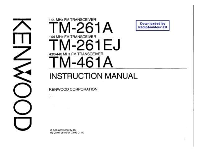 KENWOOD TM-261A MANUAL DOWNLOAD