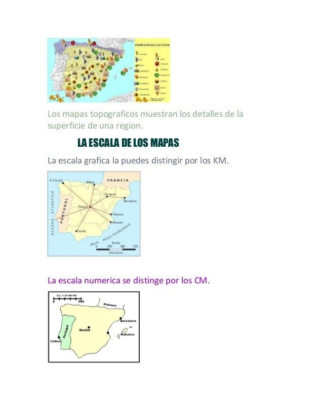 Los mapas topograficos muestran los detalles de la superficie de una region. LA ESCALA DE LOS MAPAS La escala grafica la p...