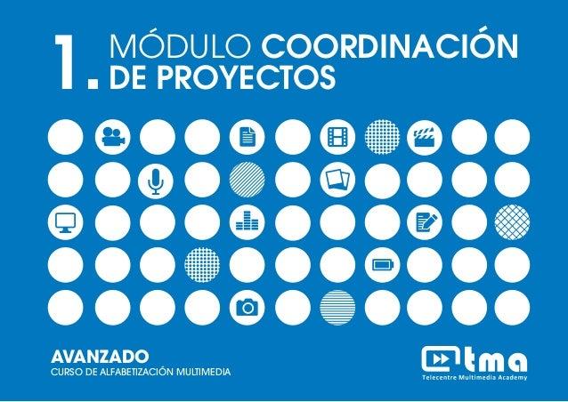 MÓDULO COORDINACIÓN DE PROYECTOSCURSO DE ALFABETIZACIÓN MULTIMEDIA AVANZADO 1 1.MÓDULO COORDINACIÓN DE PROYECTOS AVANZADO ...