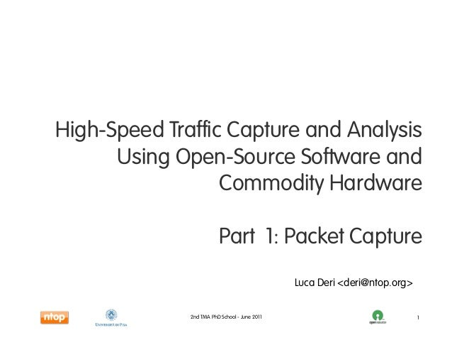 High-Speed Traffic Capture and Analysis      Using Open-Source Software and                  Commodity Hardware           ...